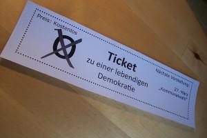 Ticket zu einer lebendigen Demokratie